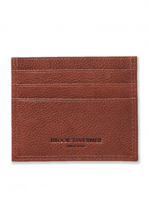 Tan Leather RFID Credit Card Holder