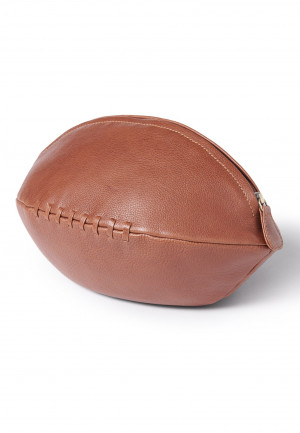Tan Rugby Ball Washbag