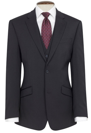 Navy Aldwych Three Piece Washable Suit - Waistcoat Available