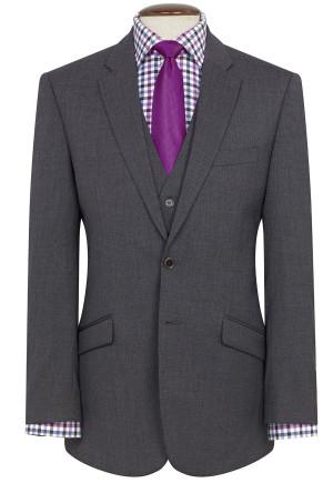 Mid Grey Aldwych Three Piece Washable Suit