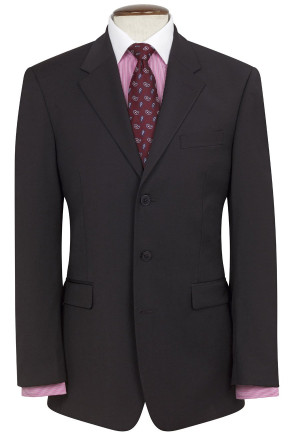 Black Imola Three Button Crease Resistant Suit
