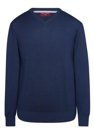 Boston Navy V-neck Sweater