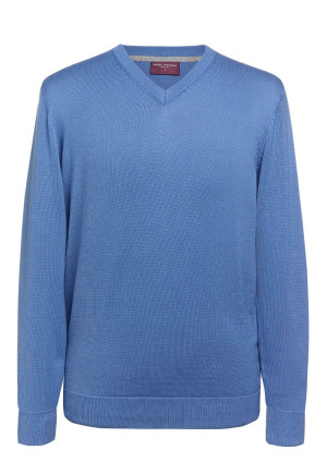 Boston Light Blue V-neck Jumper