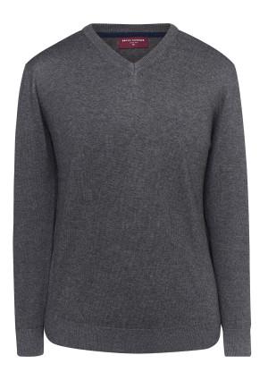 Boston Characoal V-neck Sweater