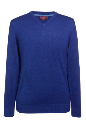 Boston Royal Blue V-neck Jumper