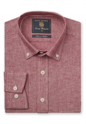 Classic And Tailored Fit Plain Rose Single Cuff Shirt