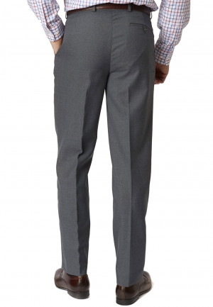 Mid Grey Branmarket Classic Fit Wool Blend Trouser