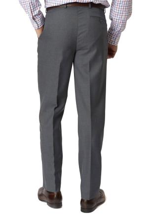 Mid Grey Branmarket Classic Fit Wool Blend Trouser
