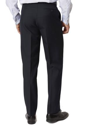 Navy Branmarket Classic Fit Wool Blend Trouser