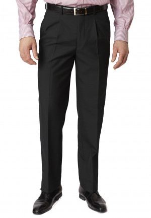 Black Branmarket Classic Fit Wool Blend Trouser