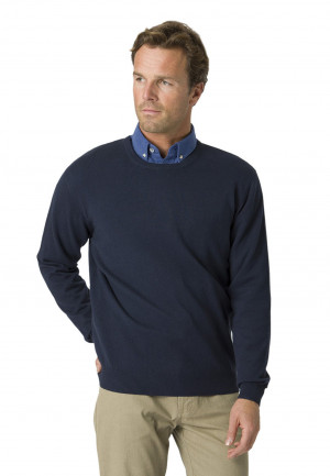 Navy Aylsham Crew Neck