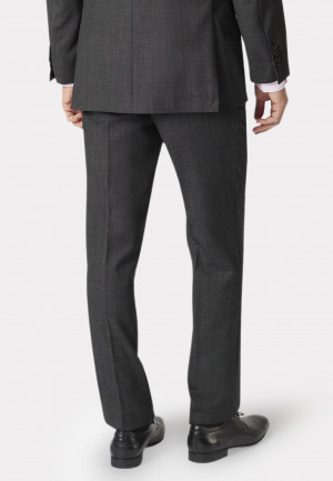 Dawlish Charcoal Birdseye Suit Trouser