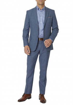 Ocean Blue Esher Washable Linen Blend Suit