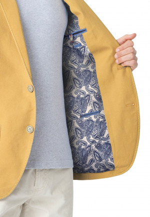 Chirk Corn Casual Semi-Structured Cotton Jacket