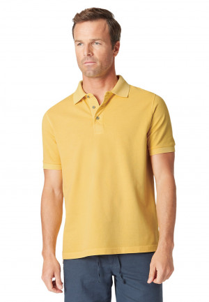 Overton Gold Garment Dyed Piqué Polo Shirt