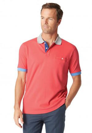 Oxshott Brick Jersey Interlock Polo Shirt