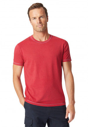 Ryton Plain Red Garment Washed T-Shirt