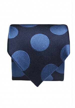 Navy With Blue Spot 100% Silk Tie