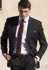 Cassino Black Fashion Fit Washable Crease Resistant Suit