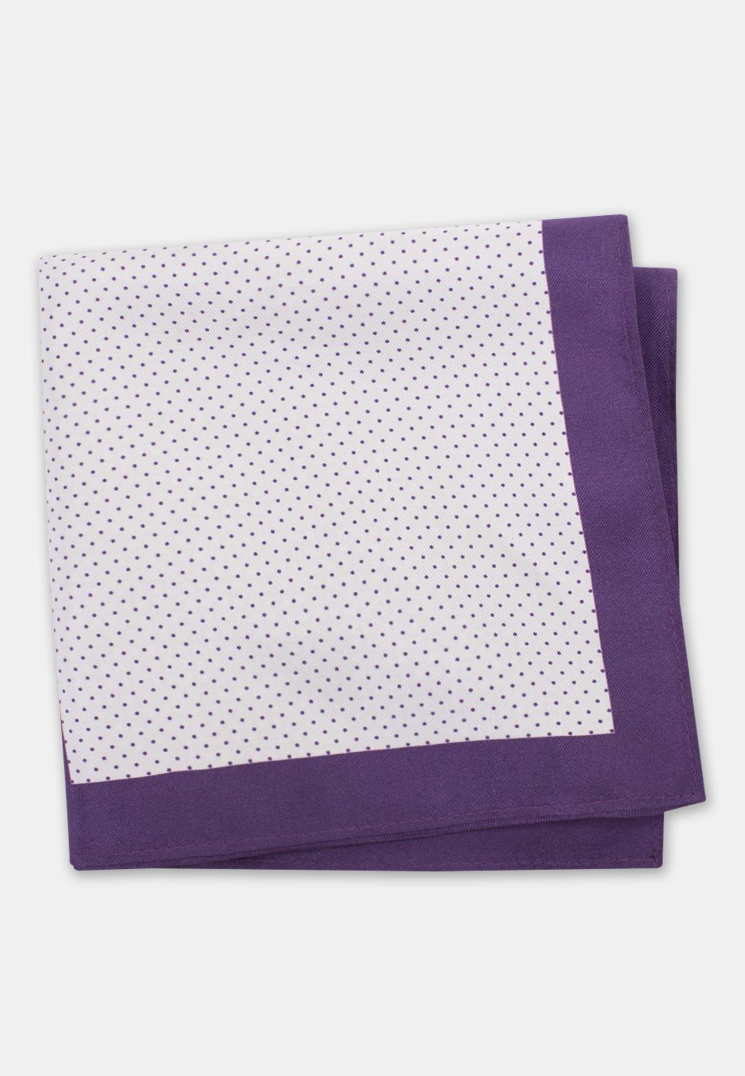 Purple Pattern 100% Silk Pocket Square