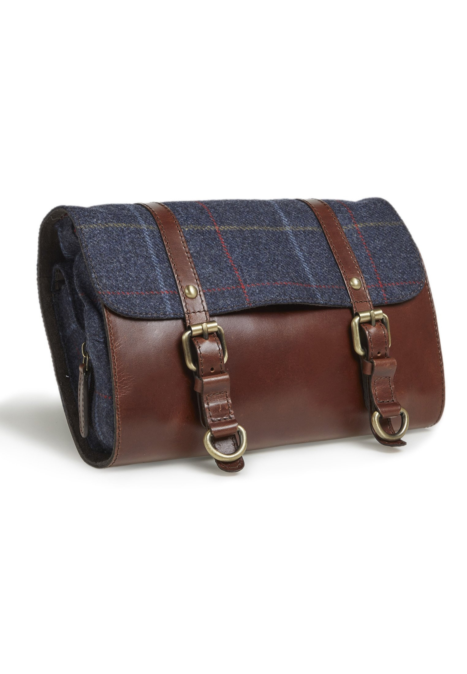 Haincliffe Tweed Washbag With Straps