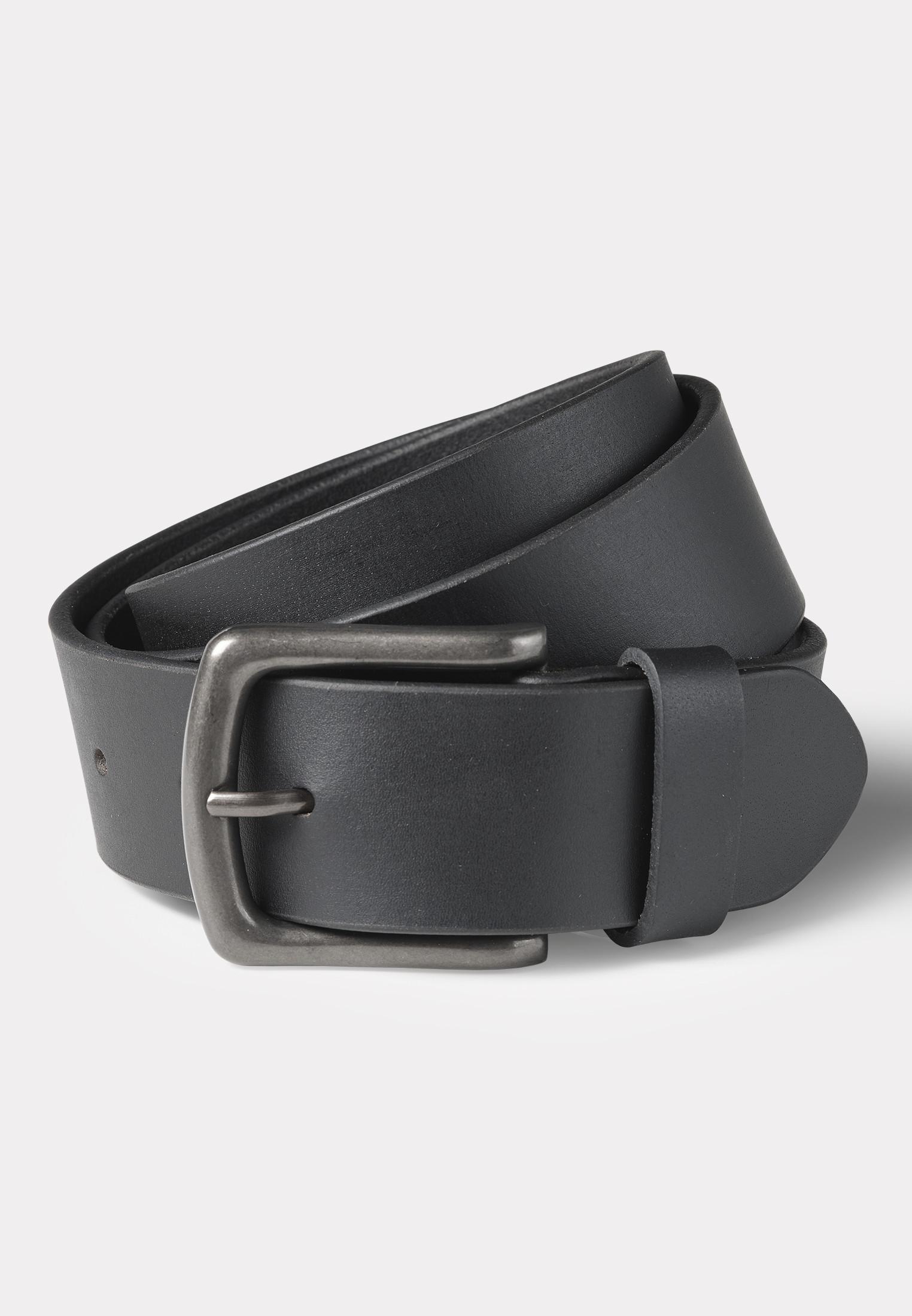 Hereford Black Leather Jean's Belt