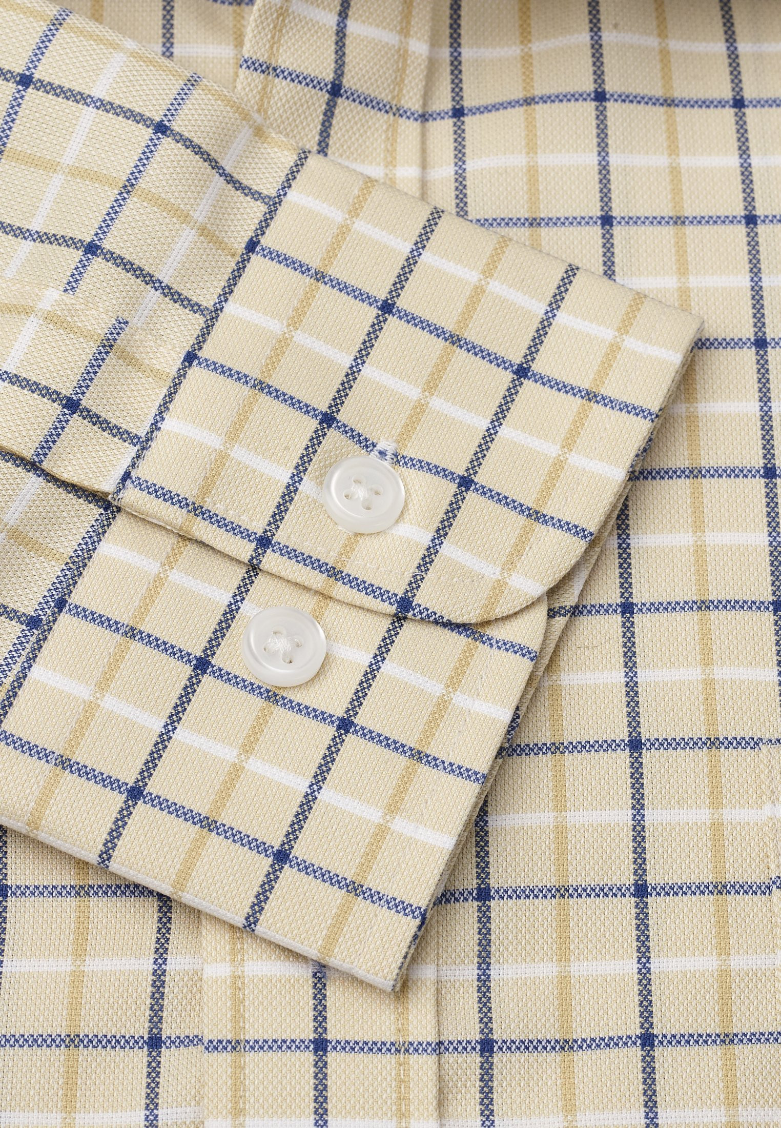 "33.5"" Sleeve Corn With Navy, Blue And White Check Shirt"