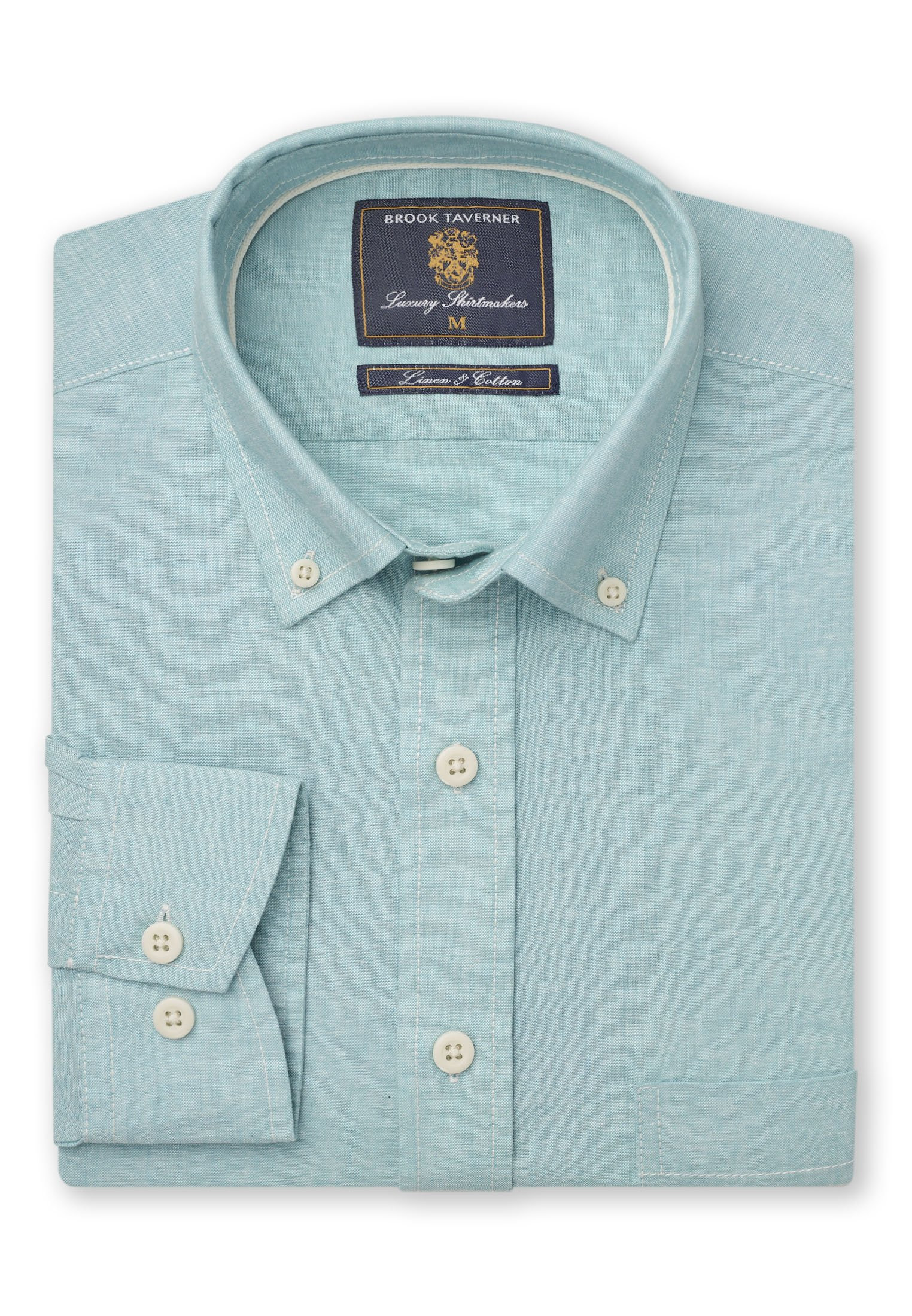 Classic And Tailored Fit Plain Mint Single Cuff Shirt