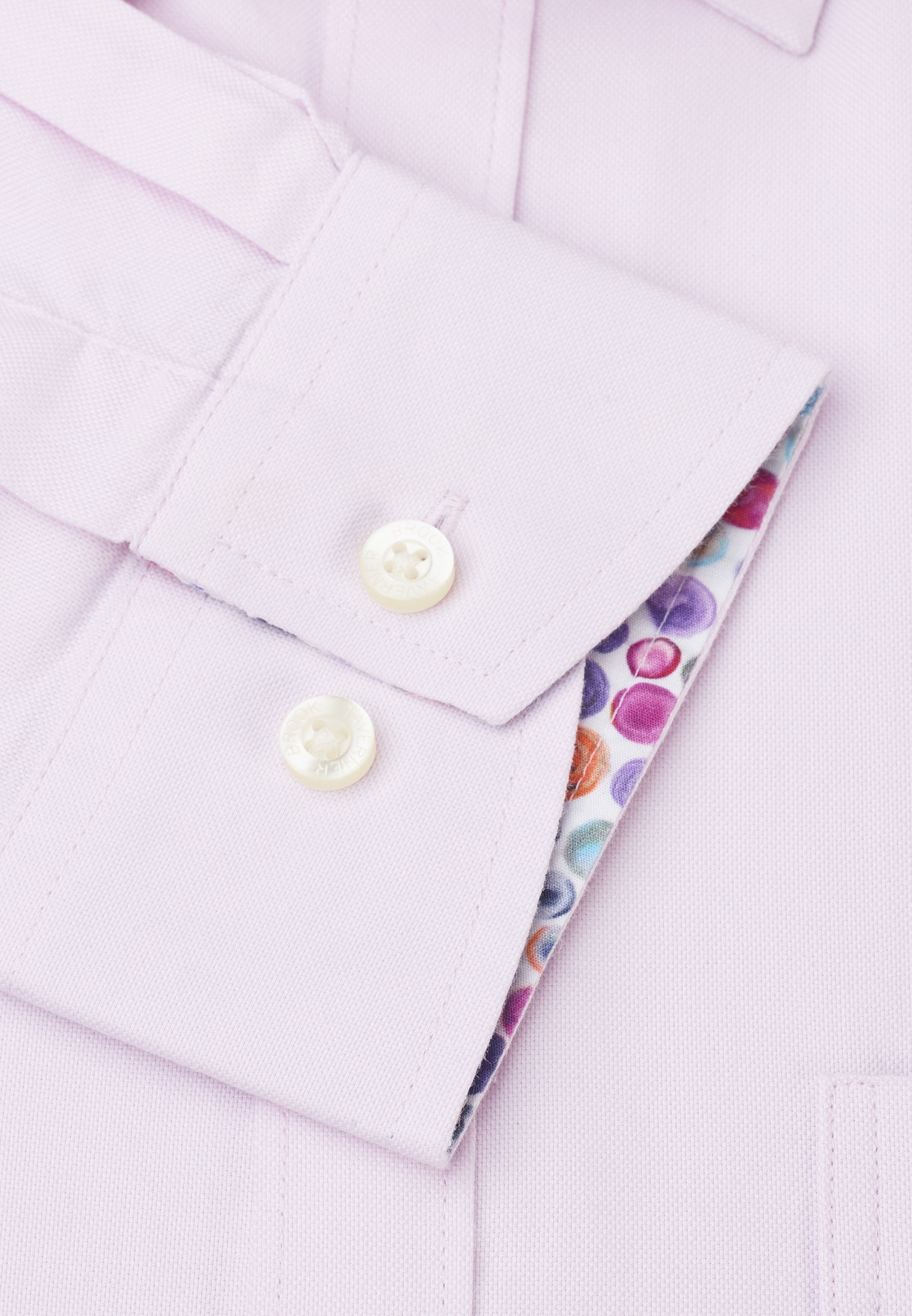 Short Sleeve Taillored Fit Pink Oxford with Coloured Trim Shirt