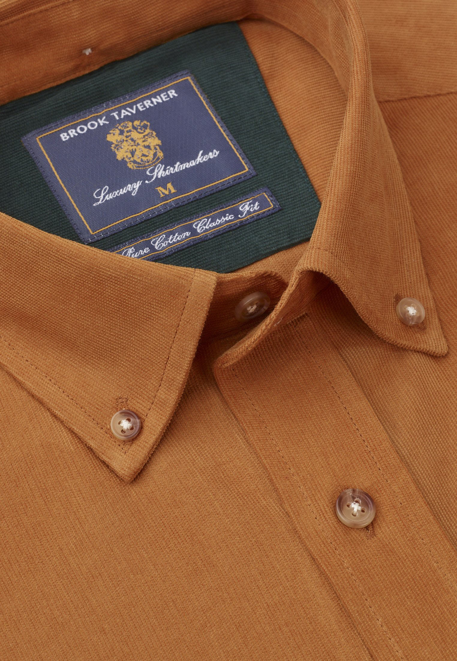 Gold Fine Needle Cord Shirt