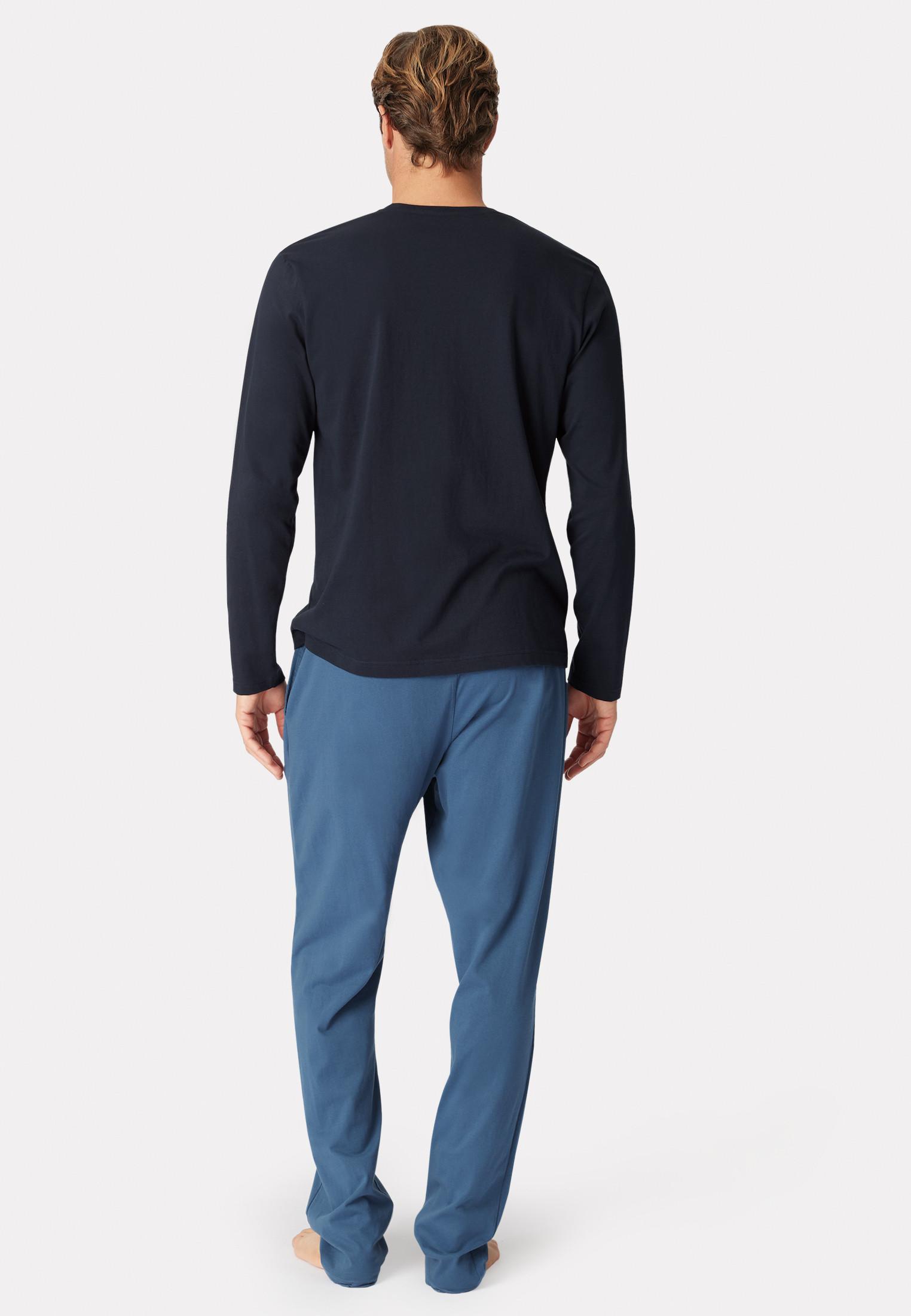 Arnold Long Sleeve Navy Crew Neck T-Shirt