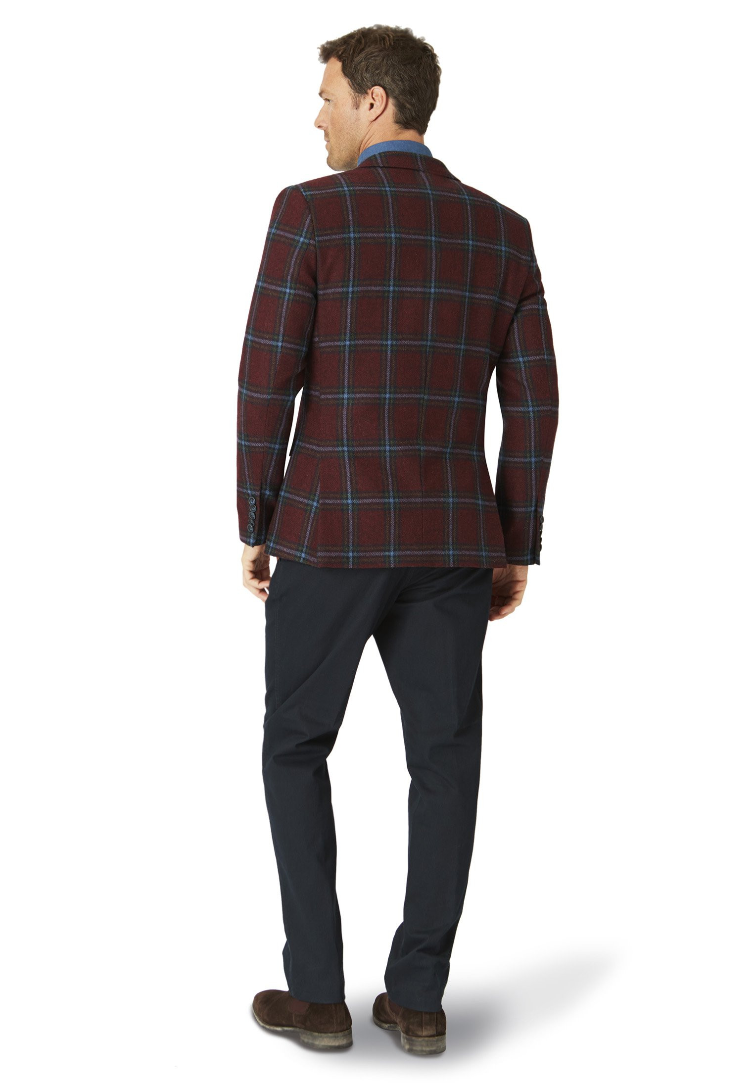 Ash Wine Overcheck Fashion Fit Jacket