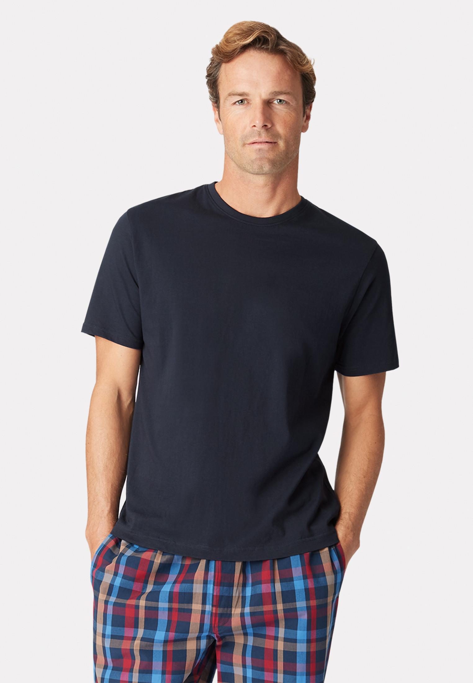 Askwith Short Sleeve Navy Crew Neck T-Shirt