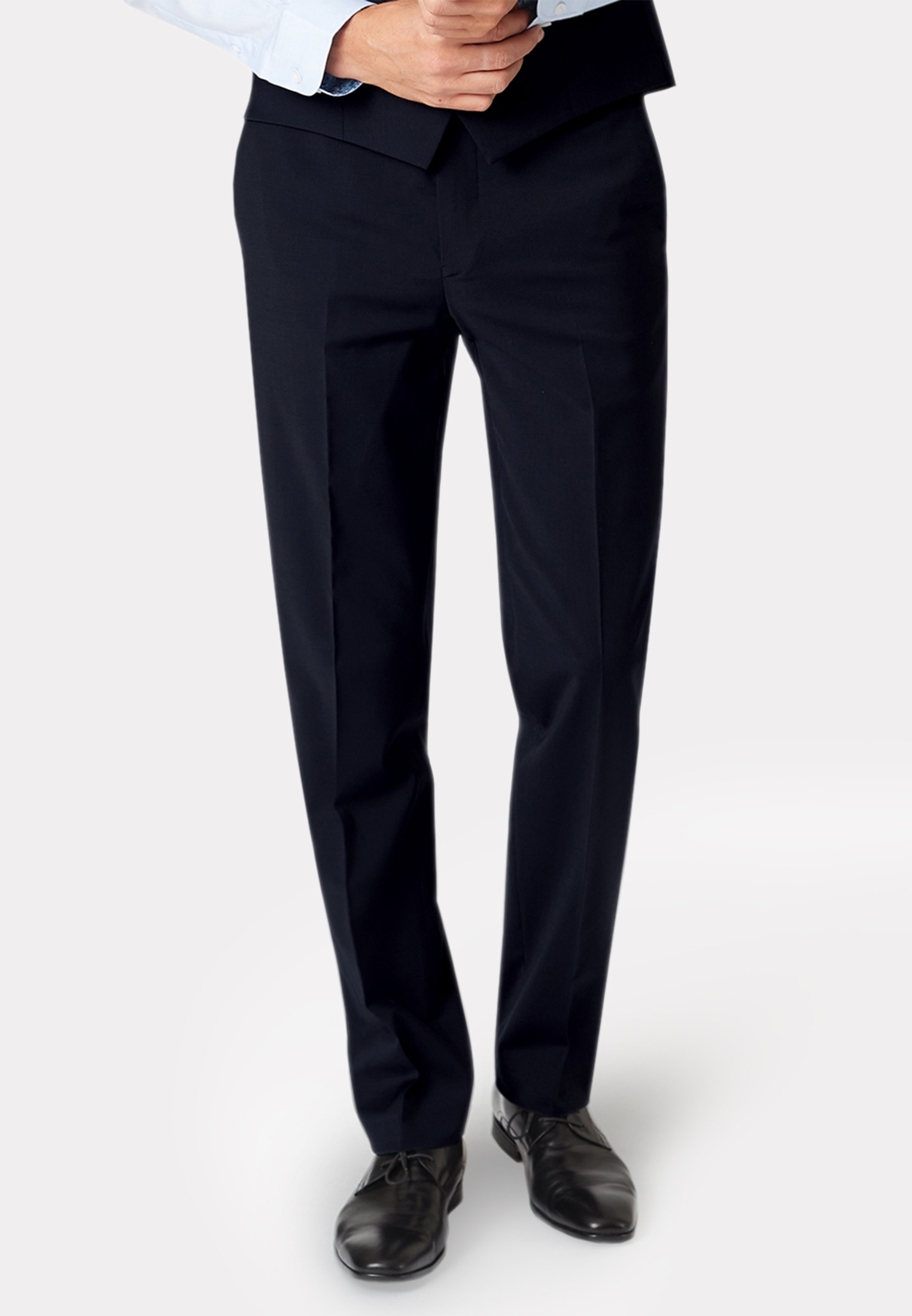 Black Cassino Tailored Fit Washable Suit Trousers