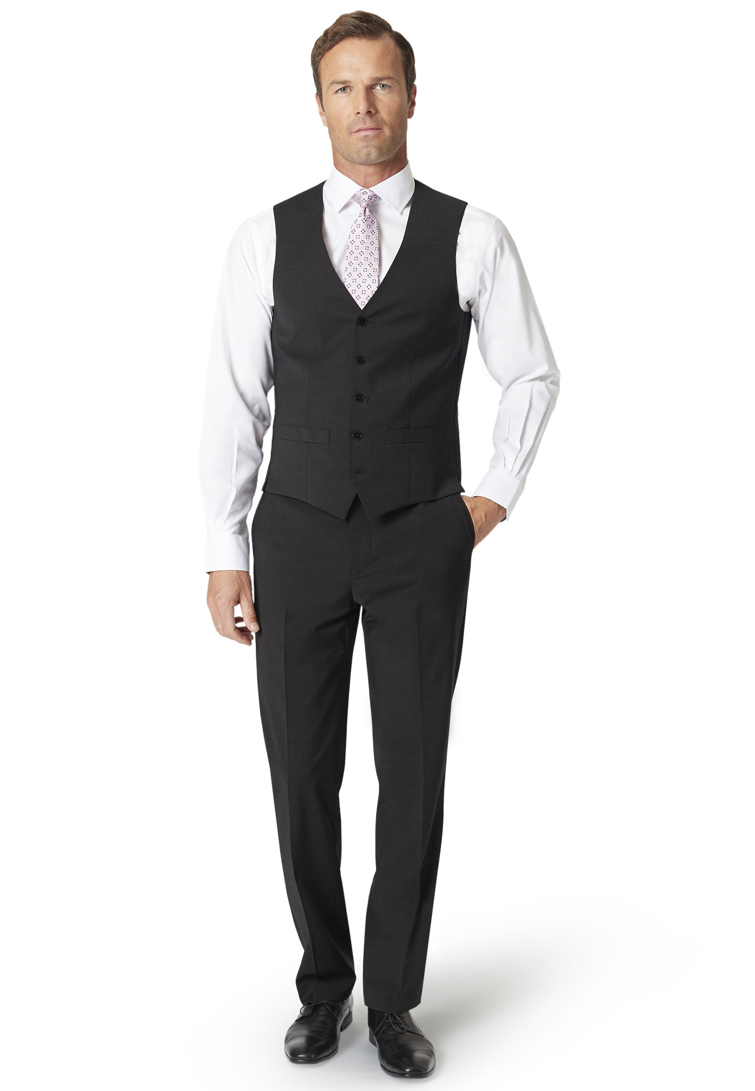 Imola Charcoal Suit Trousers