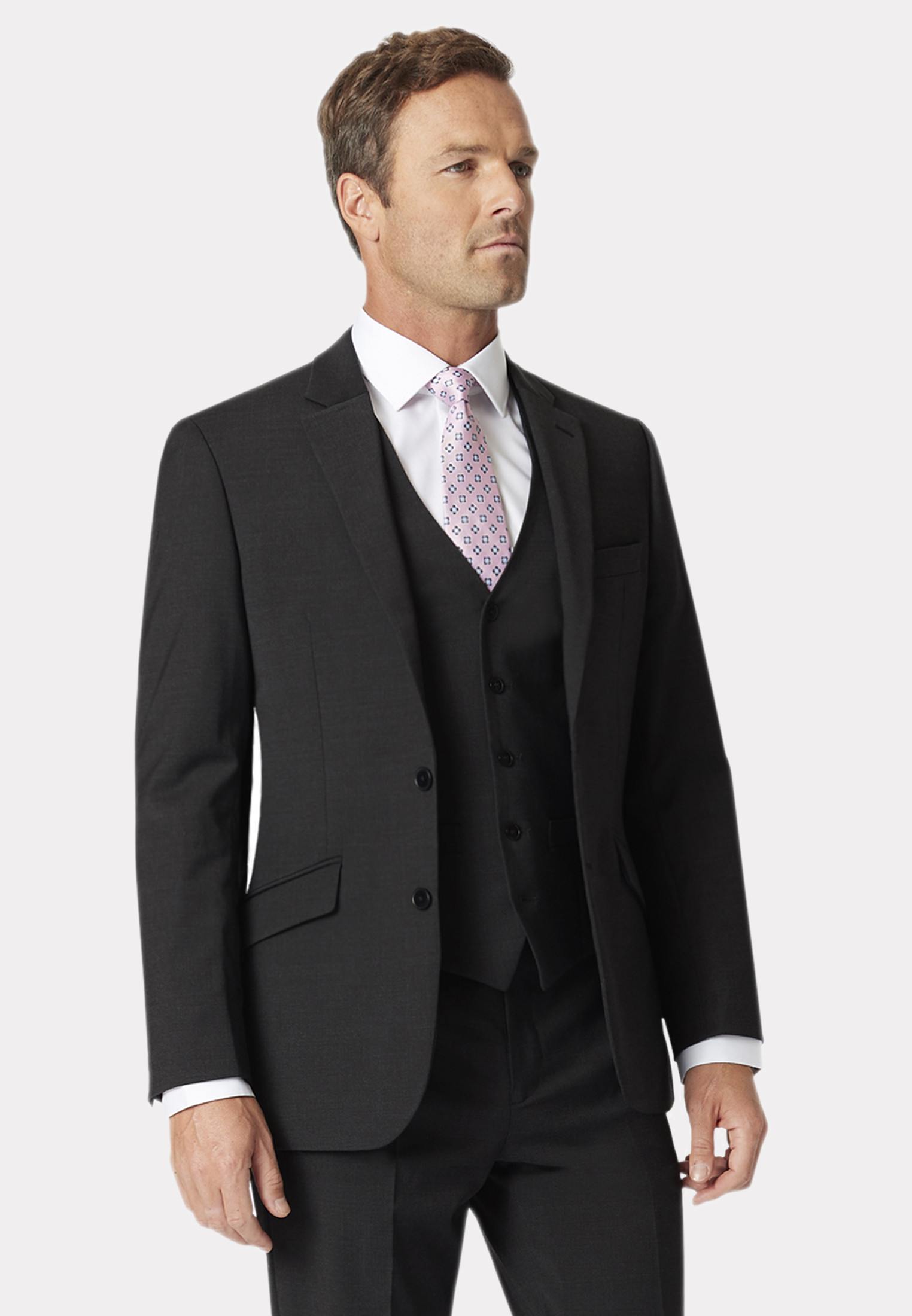 Avalino Charcoal Three Piece Travel Suit - Waistcoat Optional