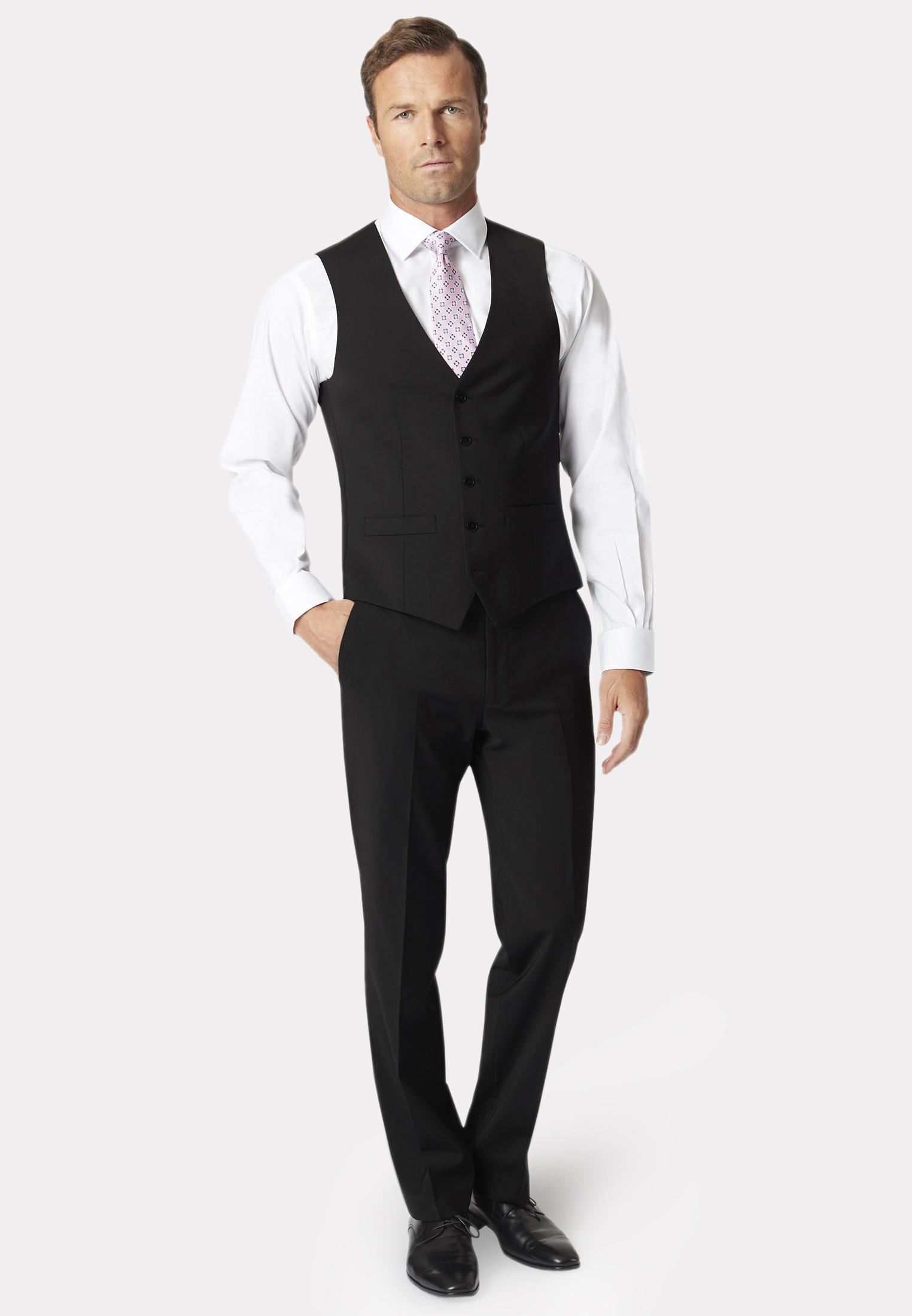 Black Avalino Crease Resistant Washable Waistcoat