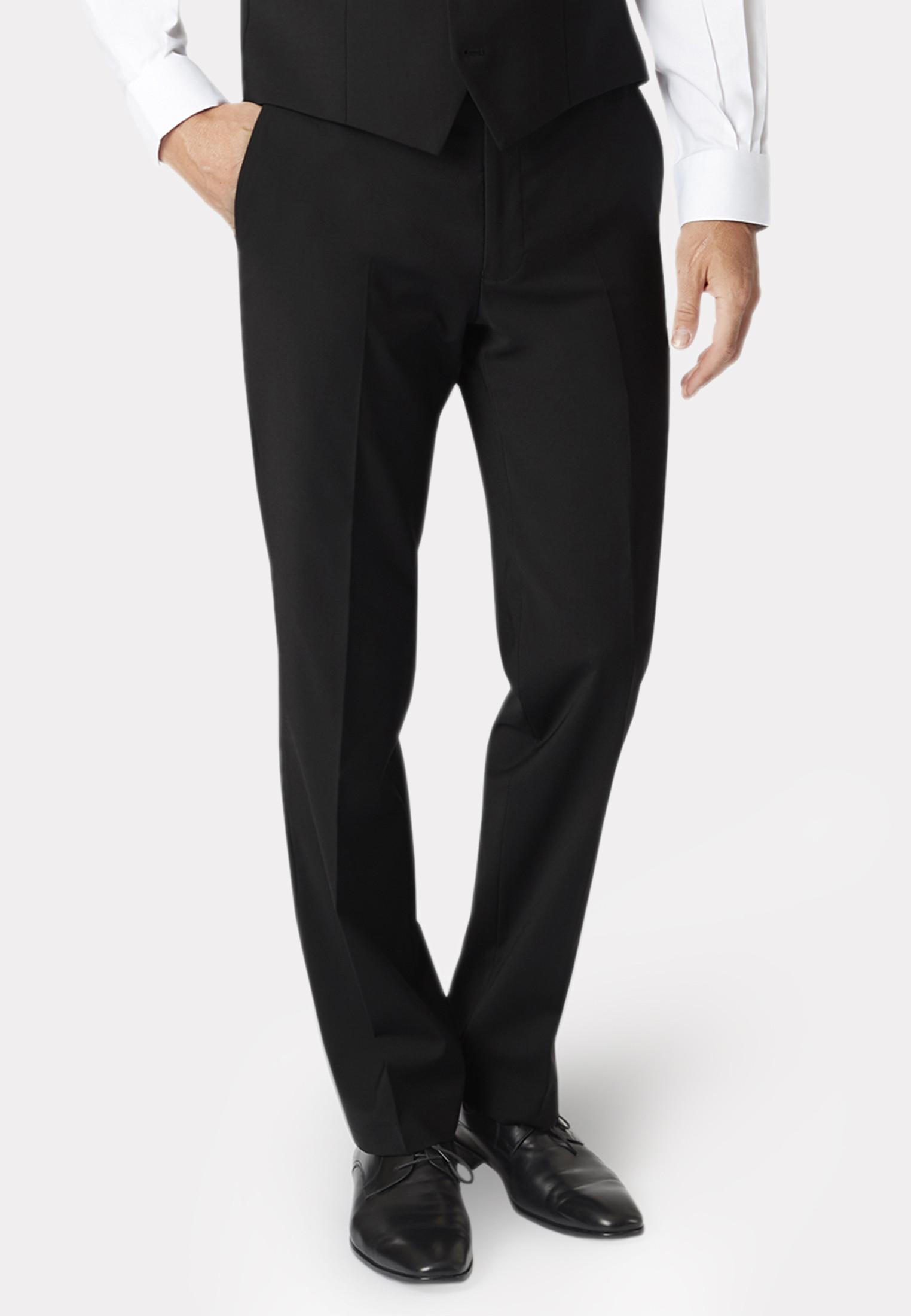 Avalino Black Three Piece Travel Suit - Waistcoat Optional
