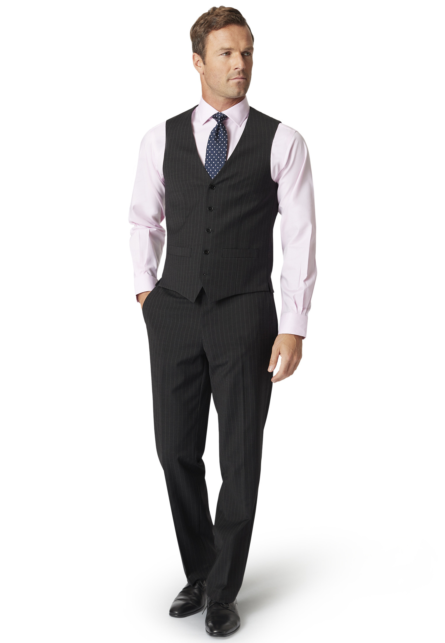 Imola Charcoal Pin Stripe Suit Trousers