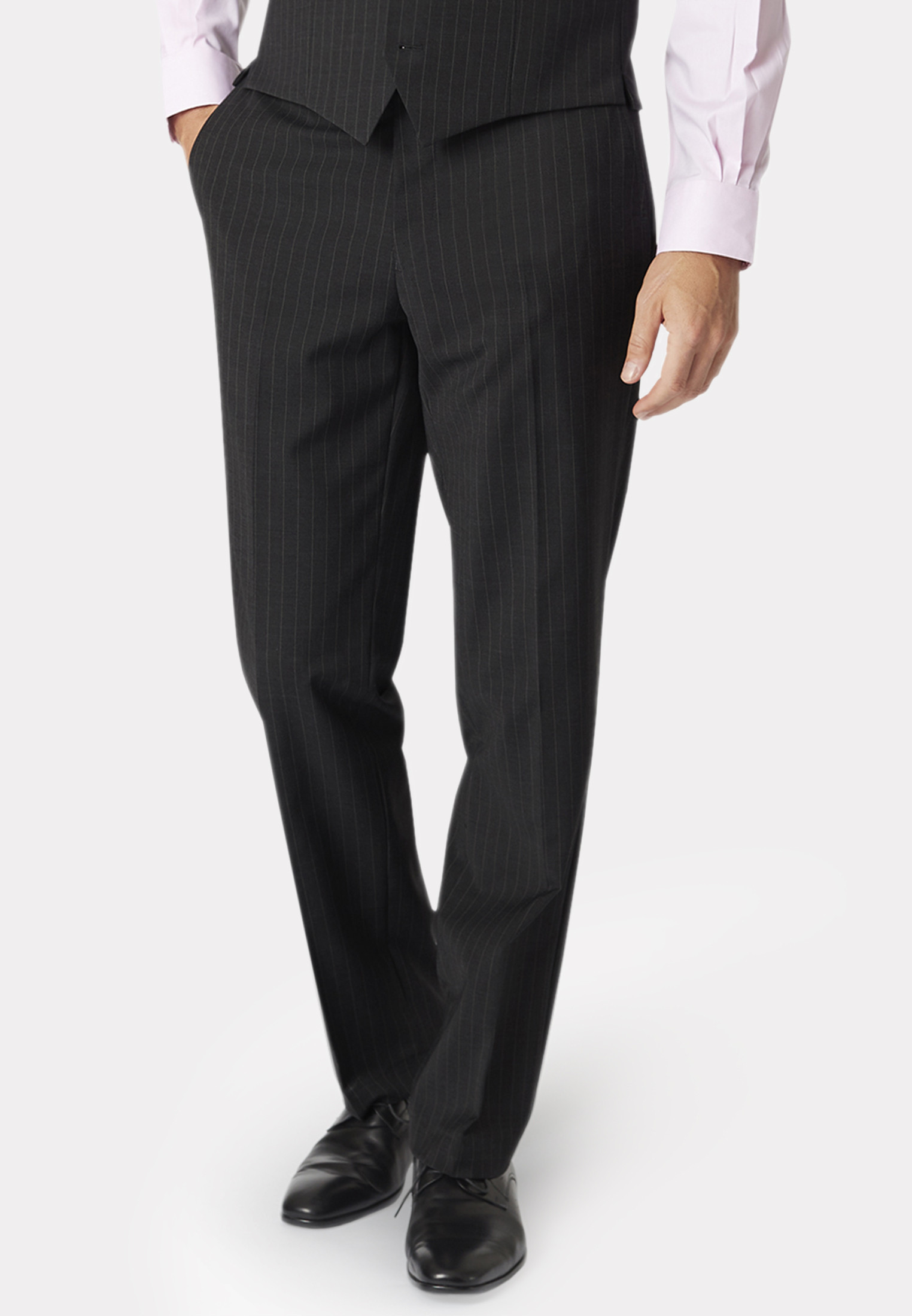 Avalino Charcoal Pin Stripe Suit Trousers