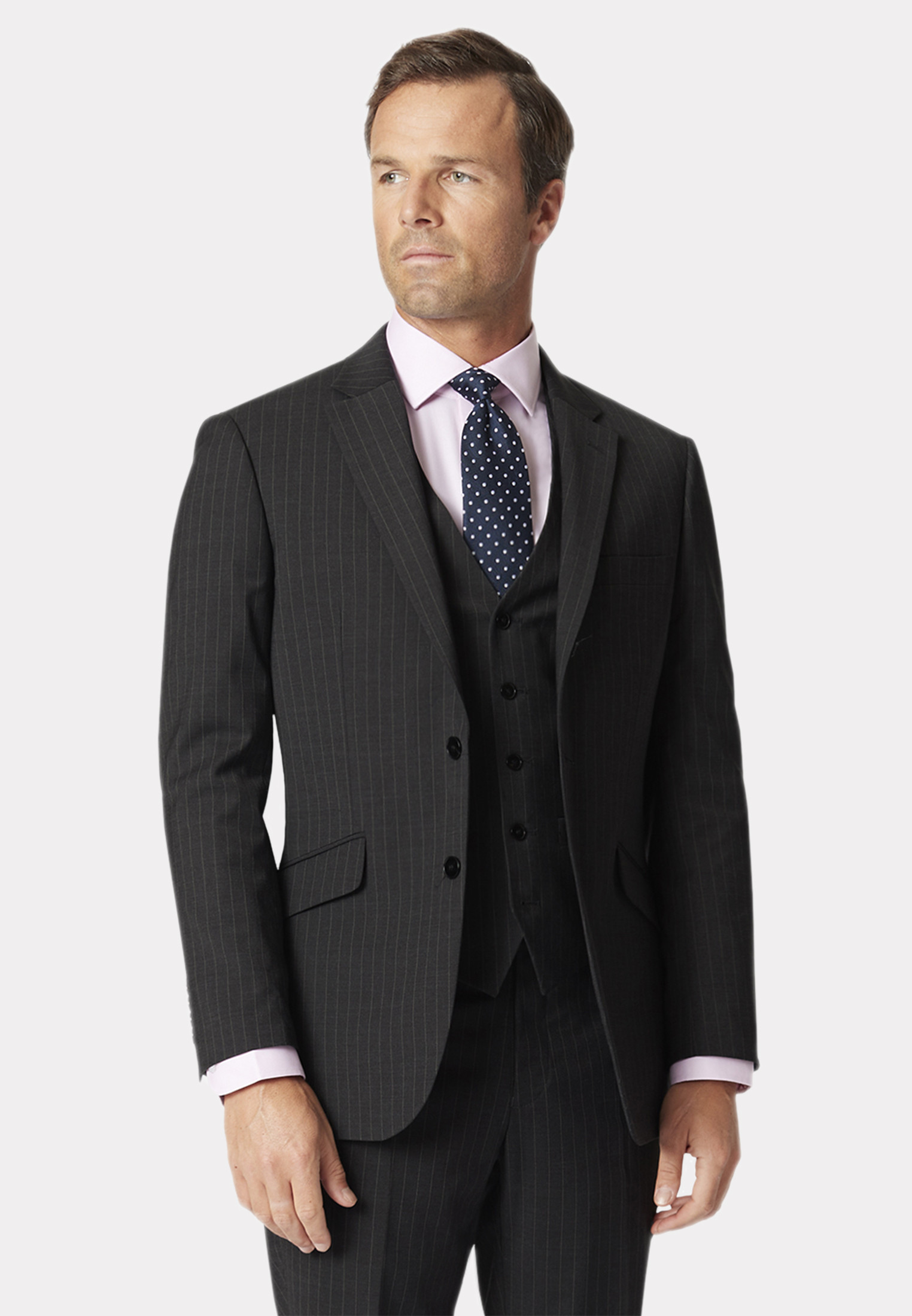 Avalino Charcoal Pinstripe Suit Jacket