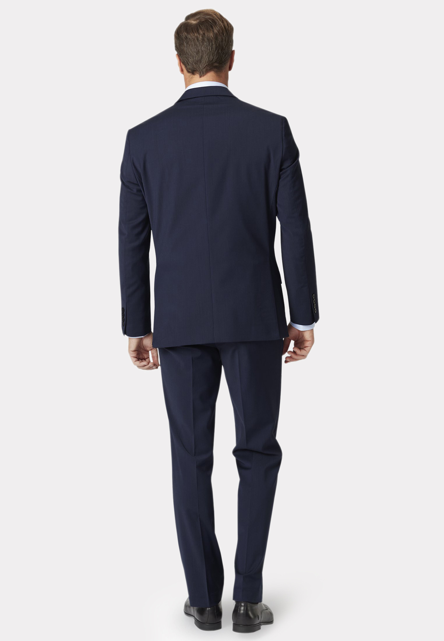 Avalino Mid Blue Three Piece Travel Suit - Waistcoat Optional