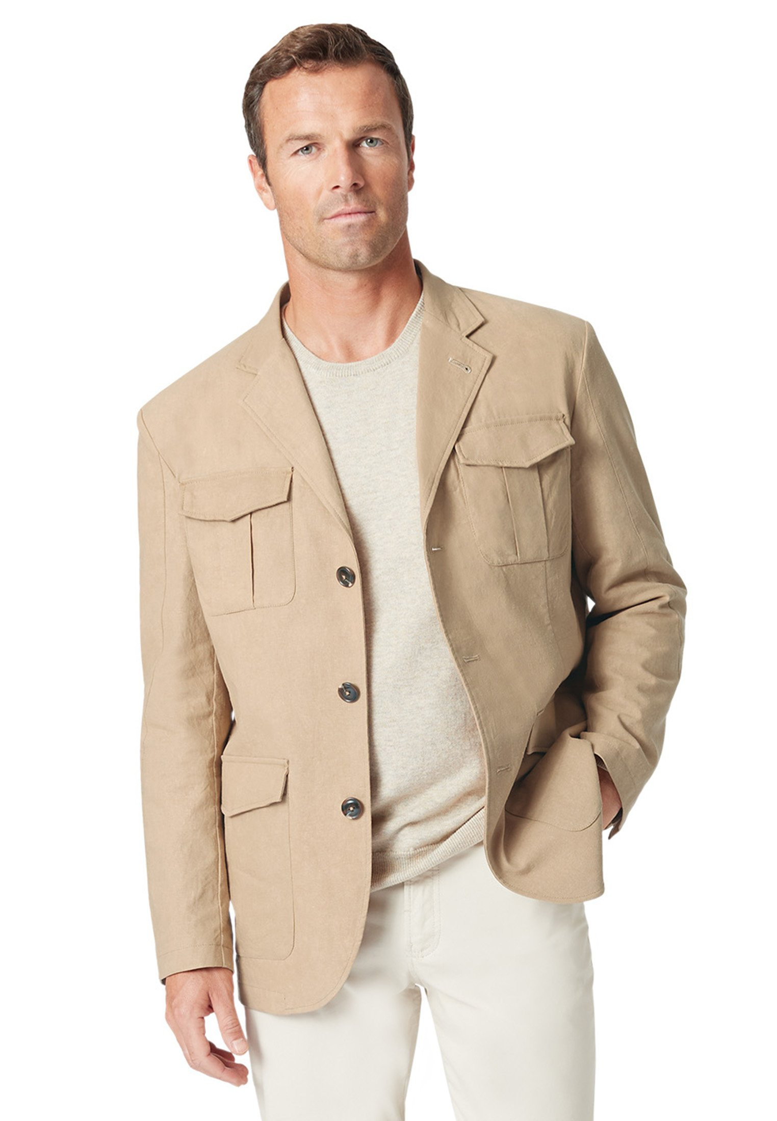 Bedale Cotton Linen Casual Jacket