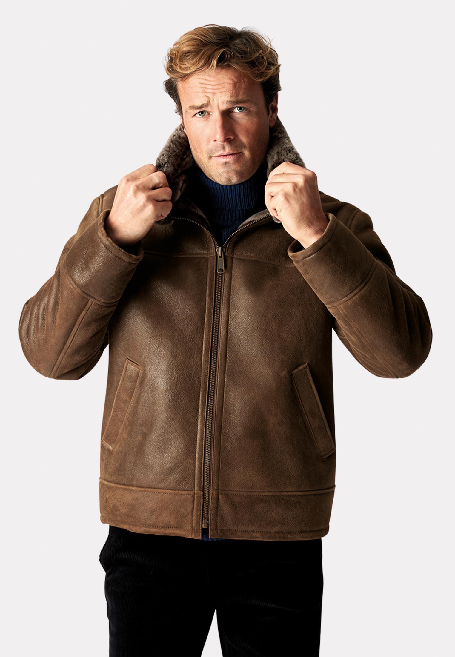 Ben Nevis Shearling Leather Aviator Jacket