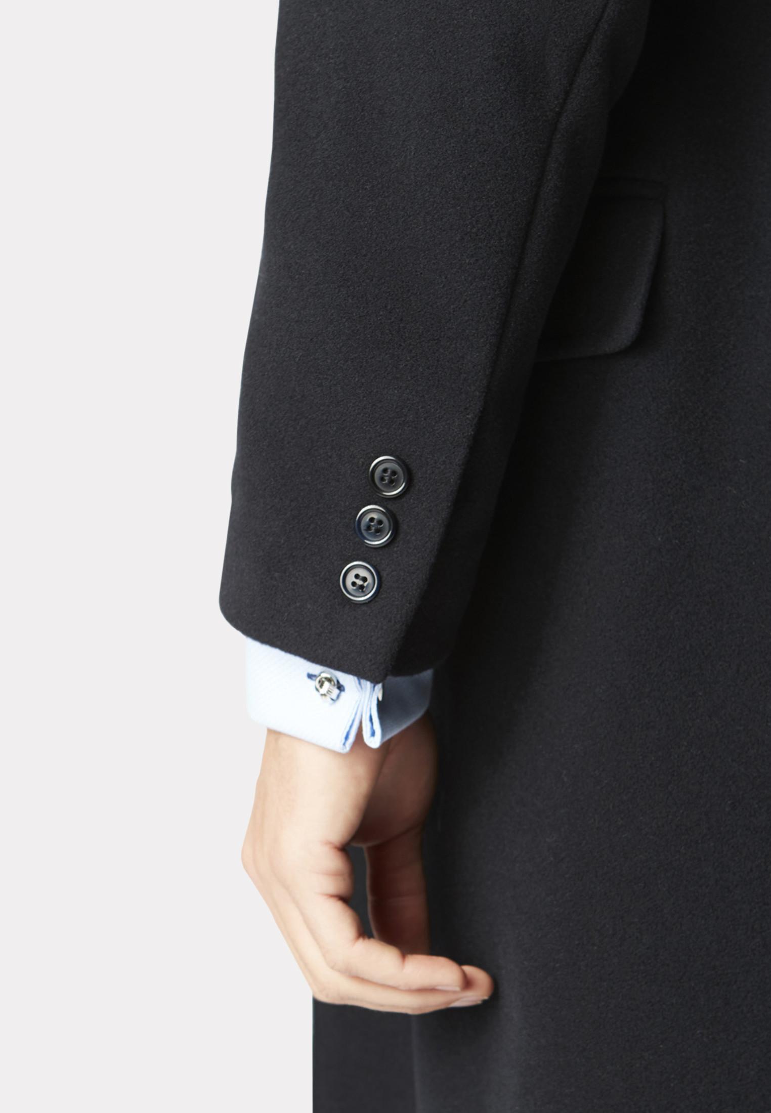 Navy Bond Wool Cashmere Overcoat