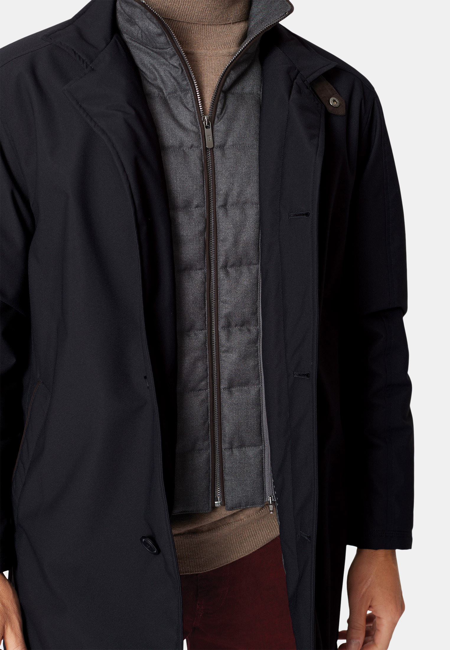 Bradshaw Navy Shortie Raincoat