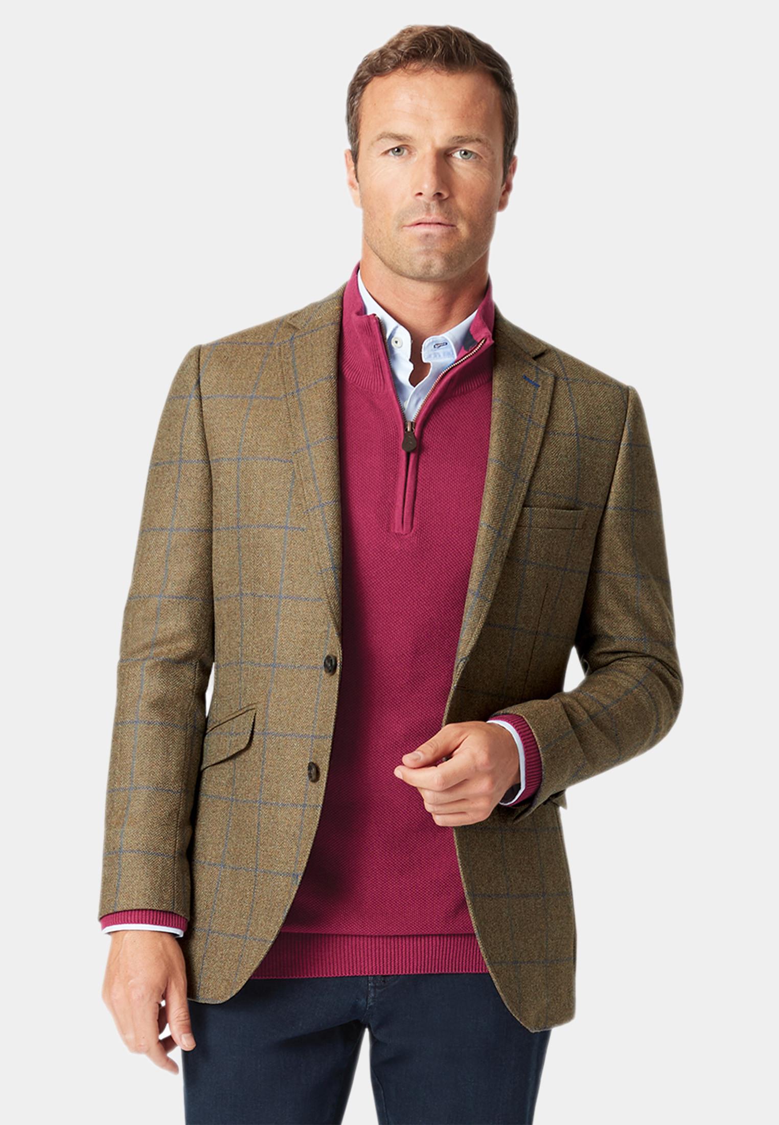 Breedon Pure New Wool Check Jacket
