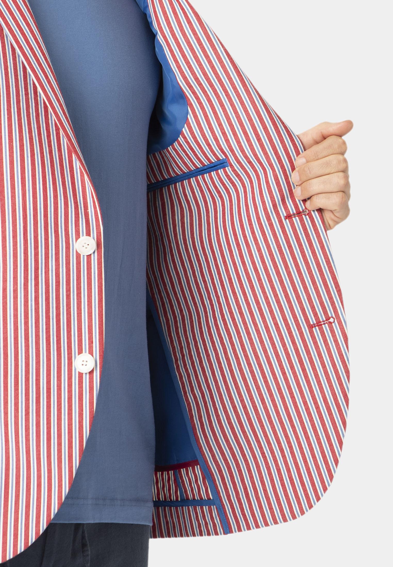 Brimham 'Cotton' Stripe Seersucker Tailored Fit Jacket