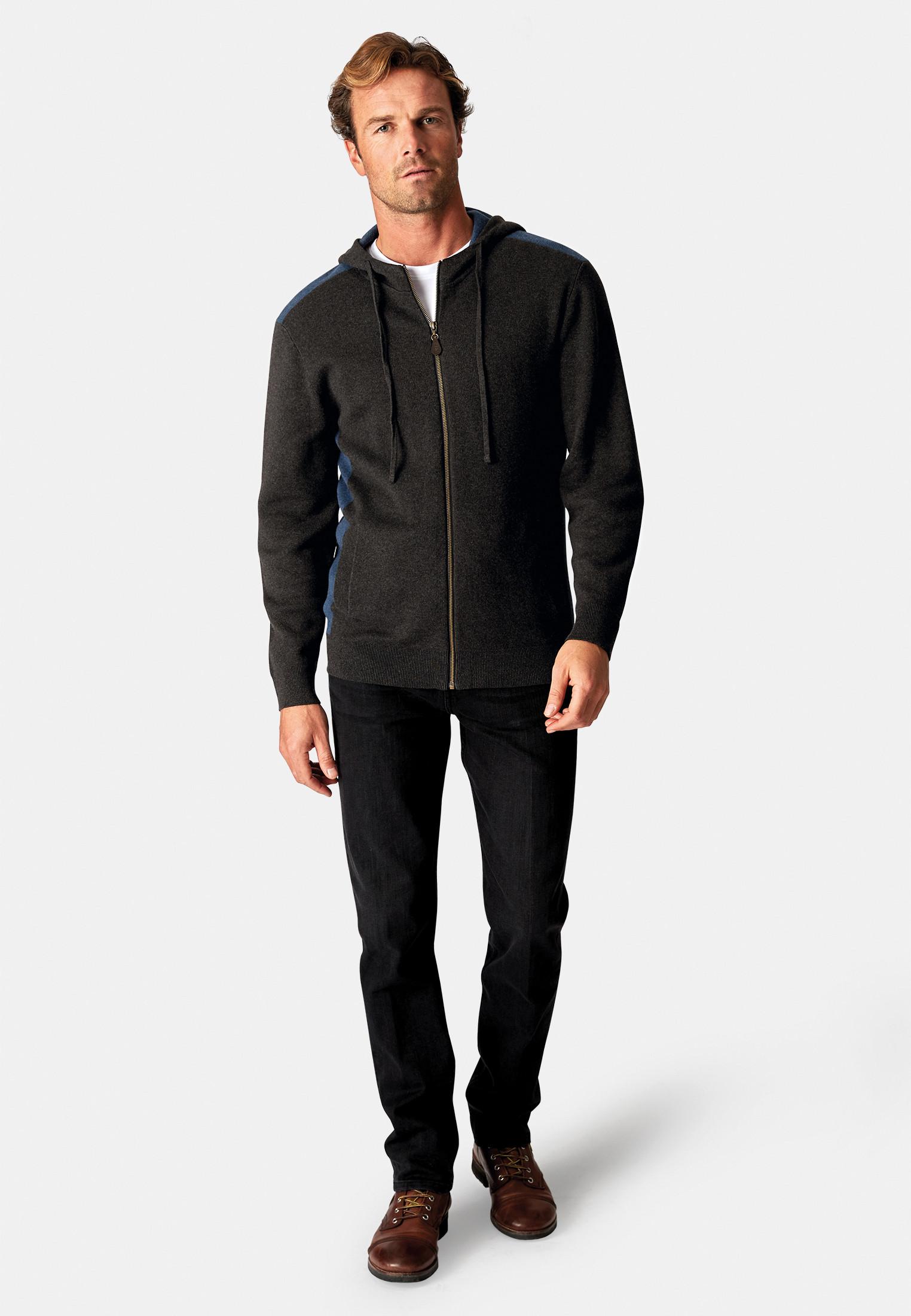 Burnsall Charcoal 14 Gauge Zip Through Hoodie