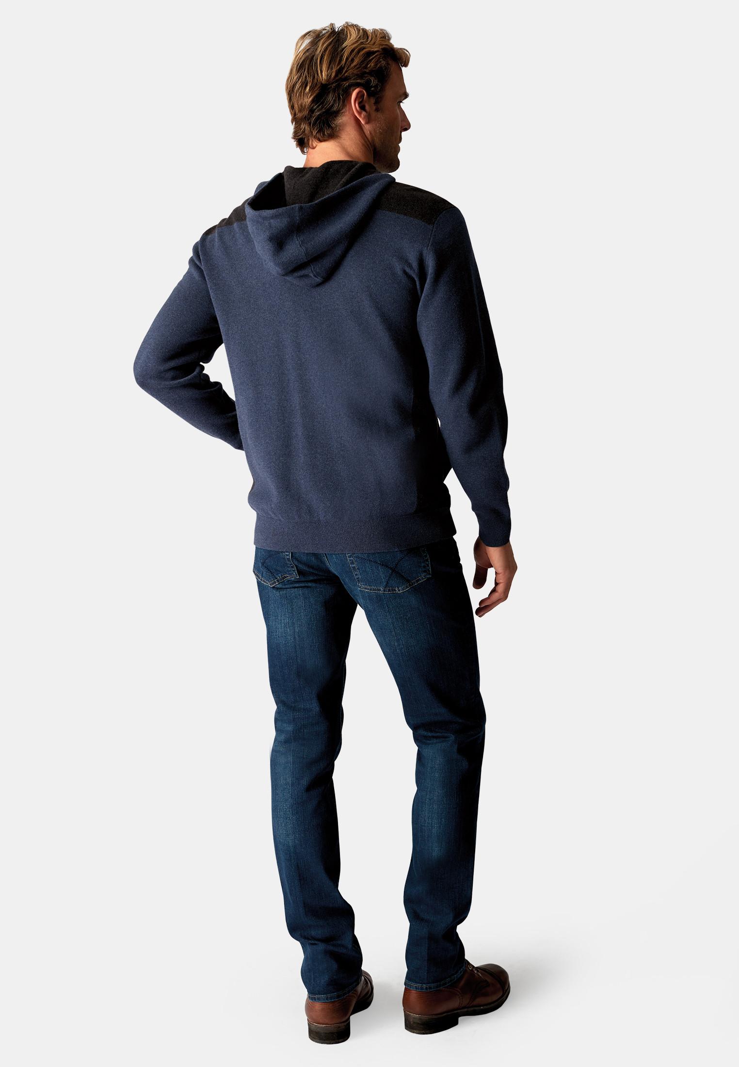 Burnsall Smoky Blue 14 Gauge Zip Through Hoodie